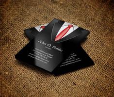 Black Suit Business Card