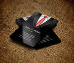 Black Suit Business Card