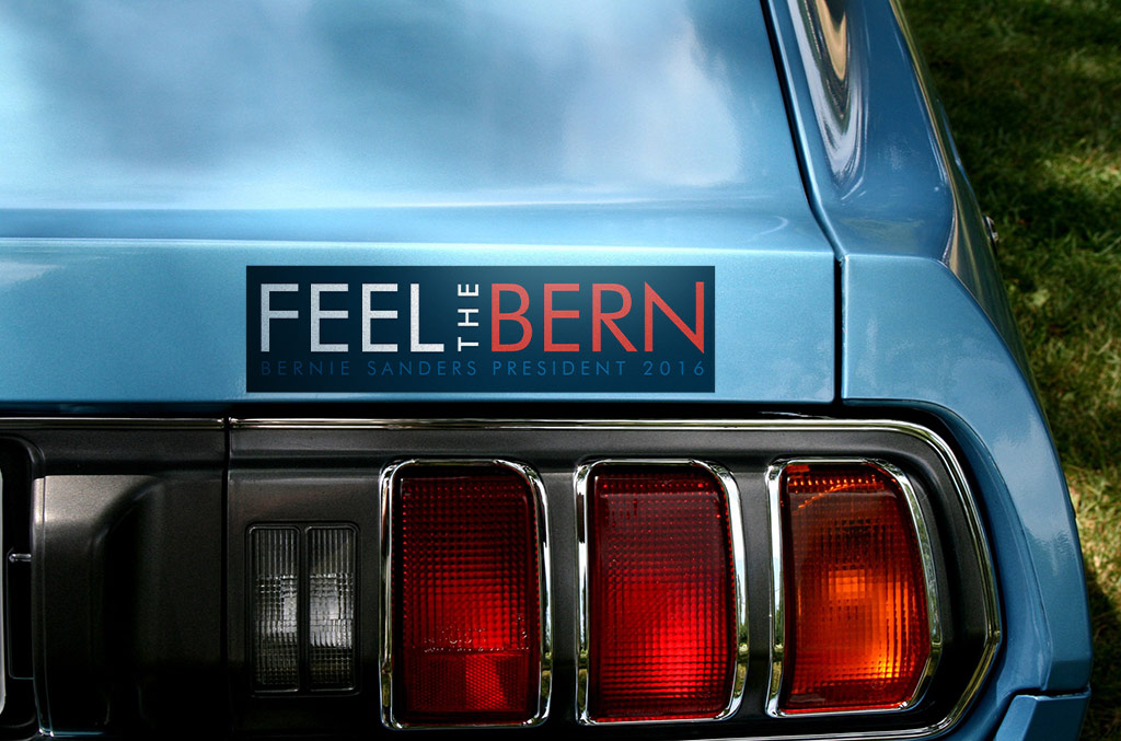 Feel The Bern Bumper Sticker by es32