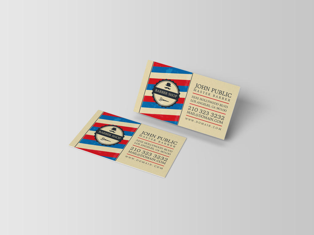 Barber Shop Business Cards by es32