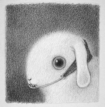 bunny with headgear by reneefrench