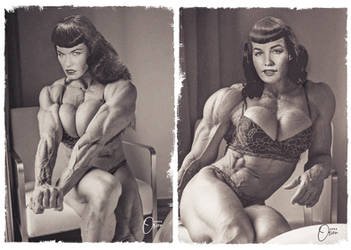 Bettie Page with Muscles