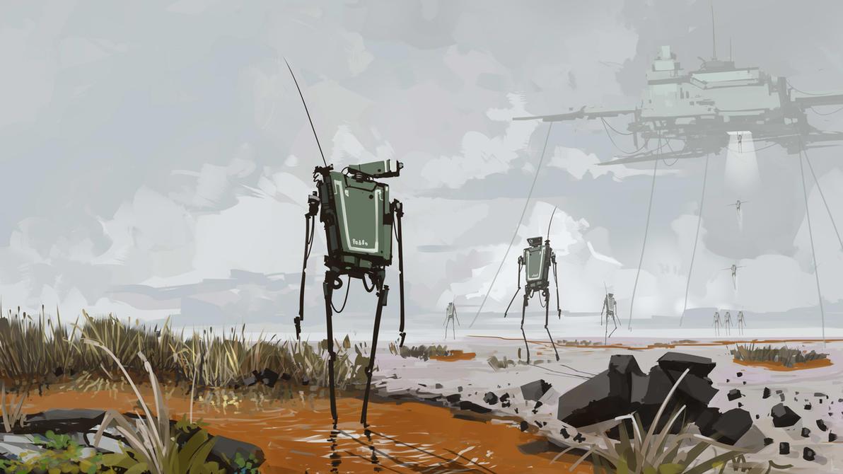 Landscape... with aliens by cyberkolbasa