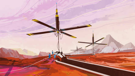 quick landscape 030614::life on Mars