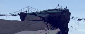 quick landscape: cliff by cyberkolbasa