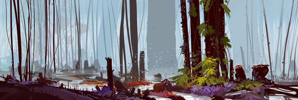 Jurassic Jungle by cyberkolbasa