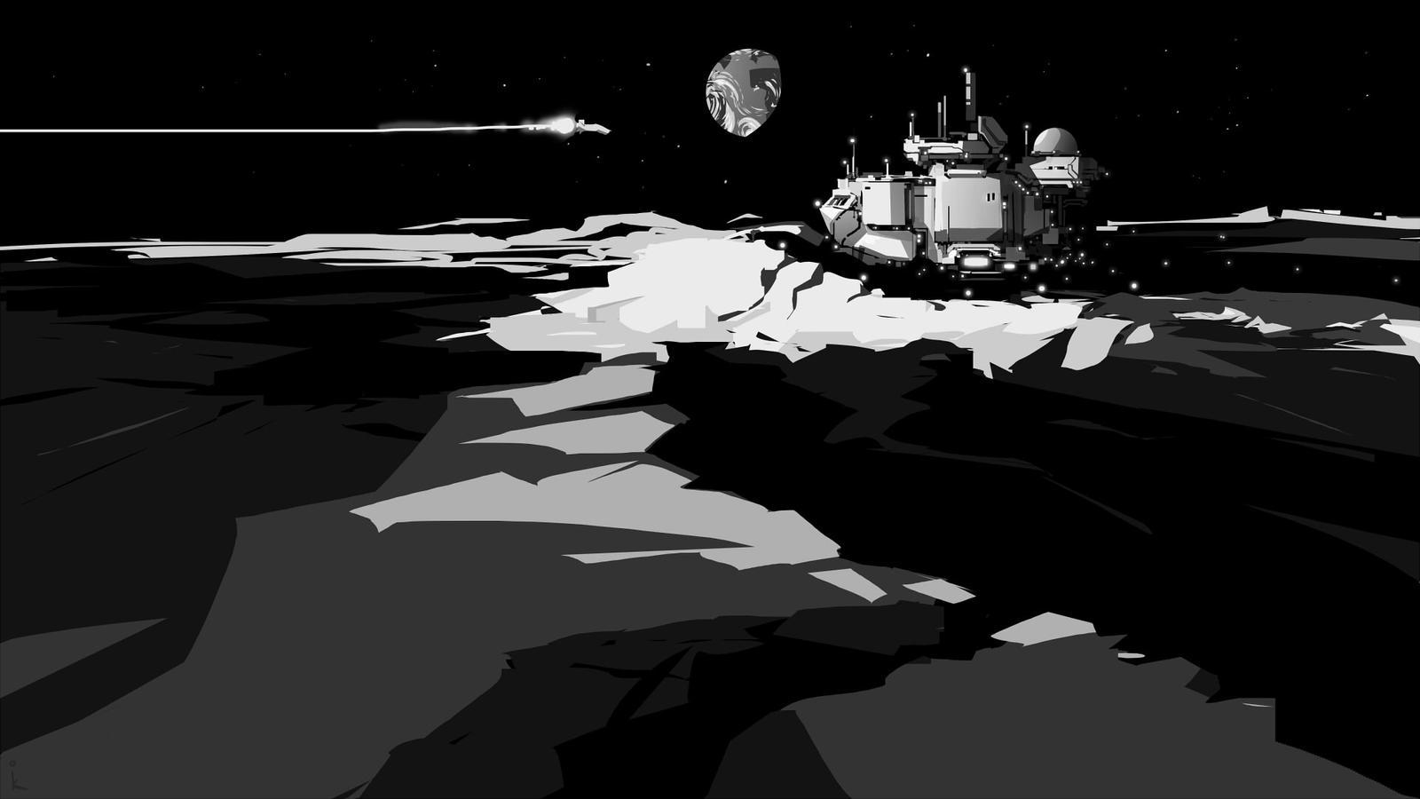 Moon Base by cyberkolbasa
