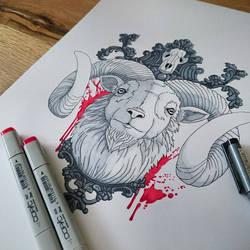 Goat (Tattoodesign) by stilbock