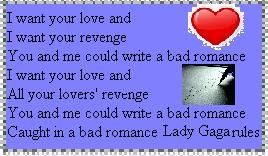 Lady Gaga  Bad Romance by blackroselover