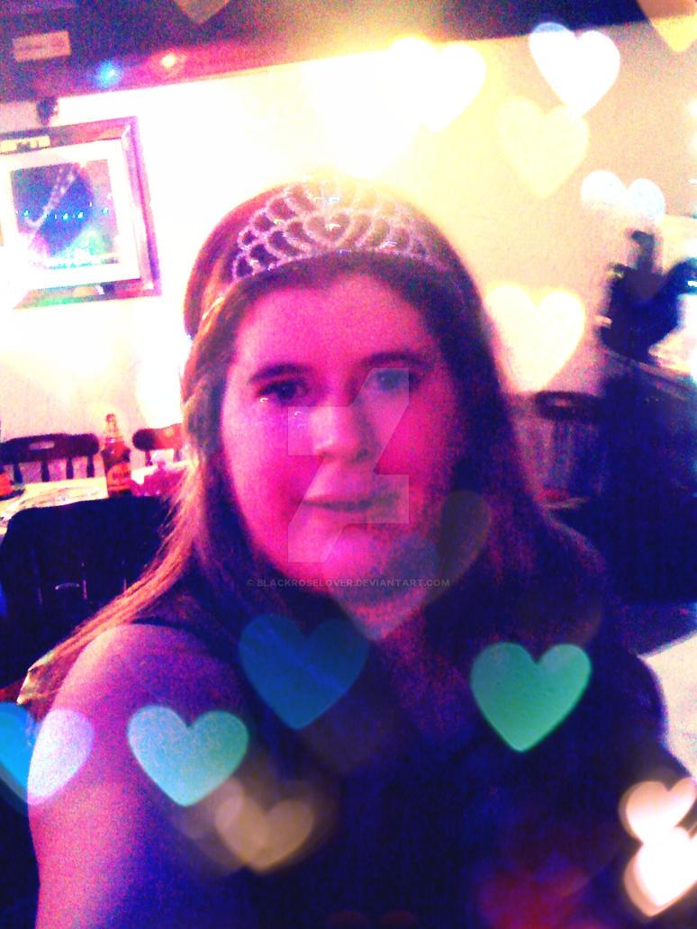 Me wearing my ex college crown by blackroselover