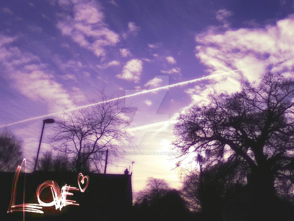 Sky with clouds 1 by blackroselover