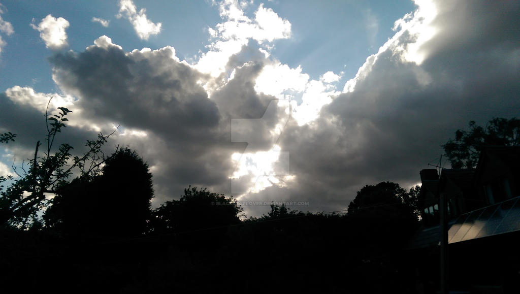 Sun behind the clouds by blackroselover