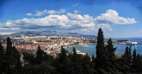 View on Split harbour
