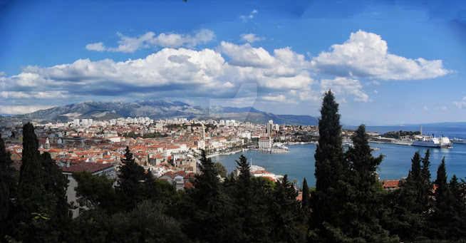 View on Split harbour by blackroselover