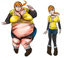 BBW Before after April o Neil from the 2012 TMNT by morugen