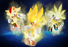 Super Sonic, Shadow,and Silver