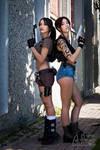 Epic crossover: Lara x Revy