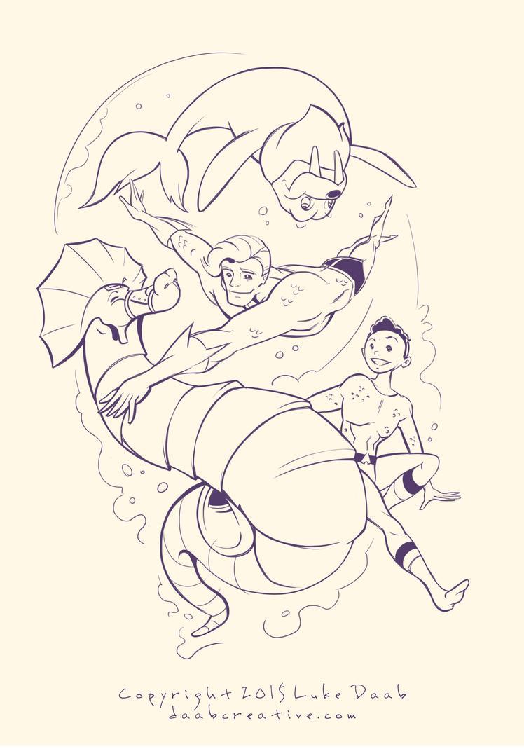 Aquaman sketch by daabcreative