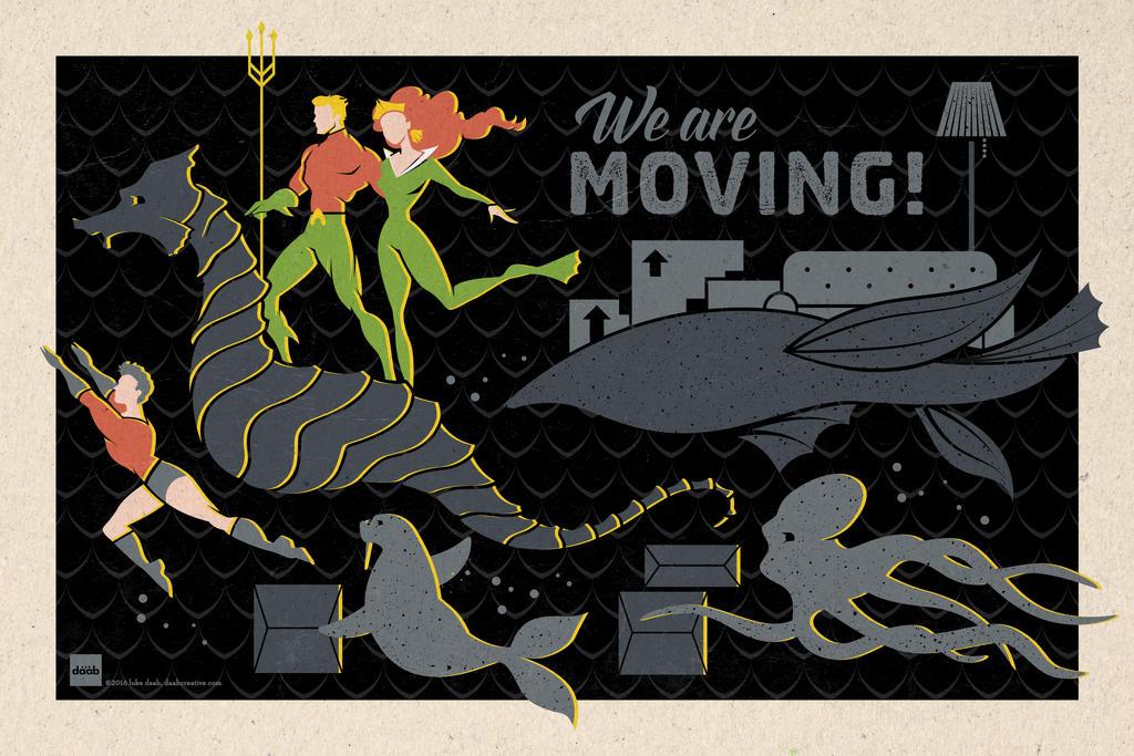 Aquaman Famils - Address Change Announcement by daabcreative