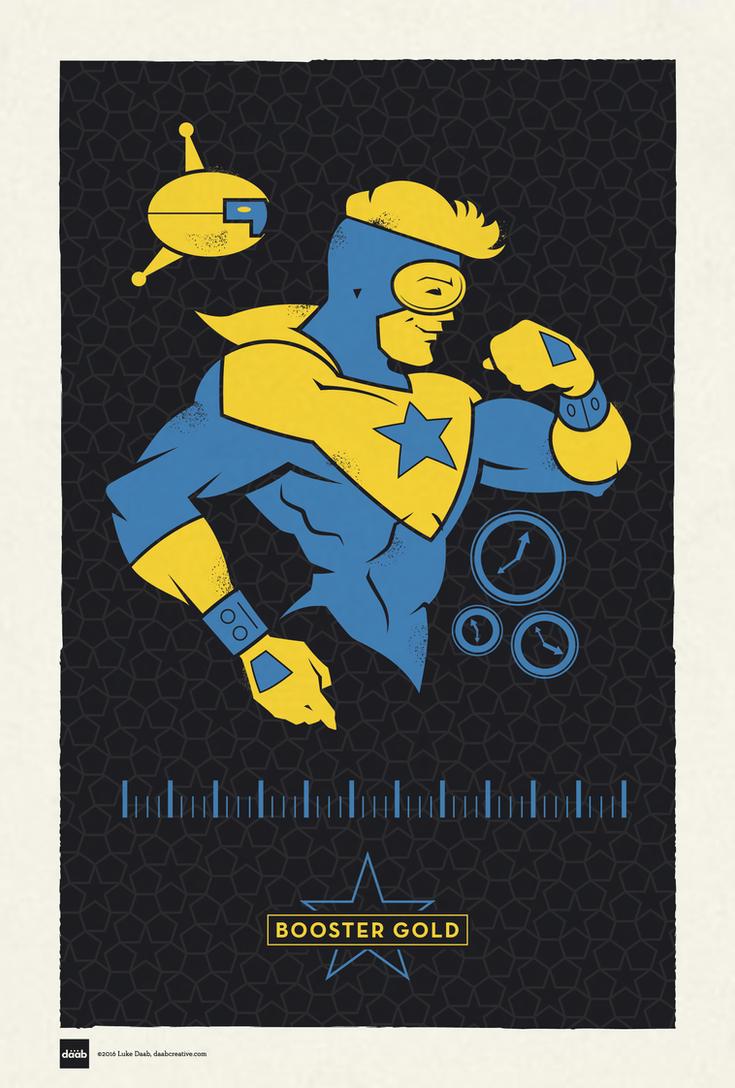 DC Superhero Profiles: Booster Gold by daabcreative