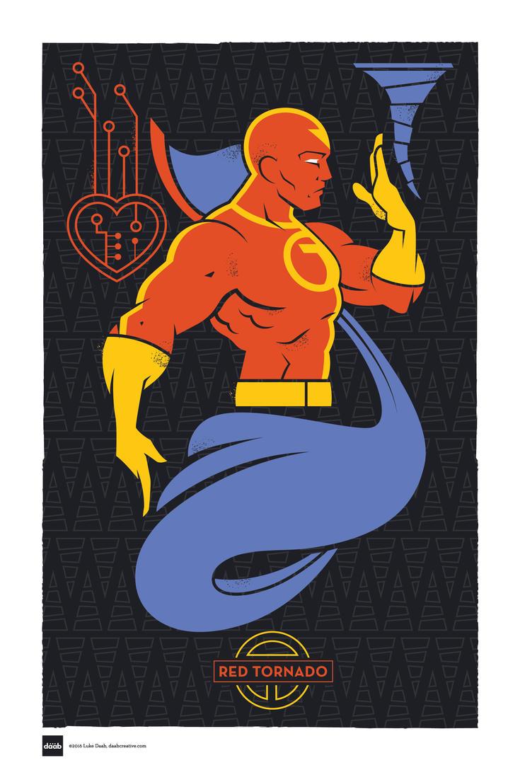 DC Superhero Profiles: Red Tornado by daabcreative