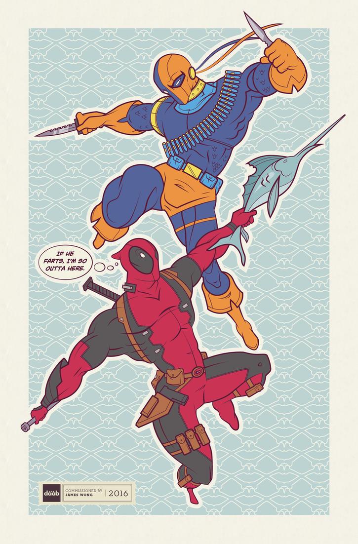 Dead Things: Deadpool vs Deathstroke by daabcreative