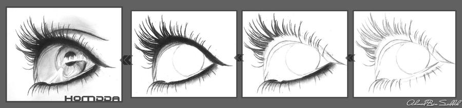 how to draw eyes stpe by step