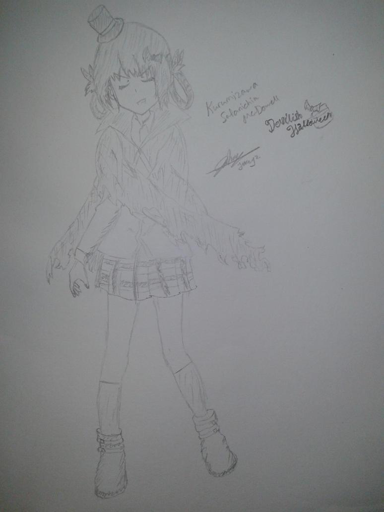 Kurumizawa Satanichia McDowell - Hallowen Drawing by jokeyz
