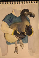 the Dodo and its keeper.