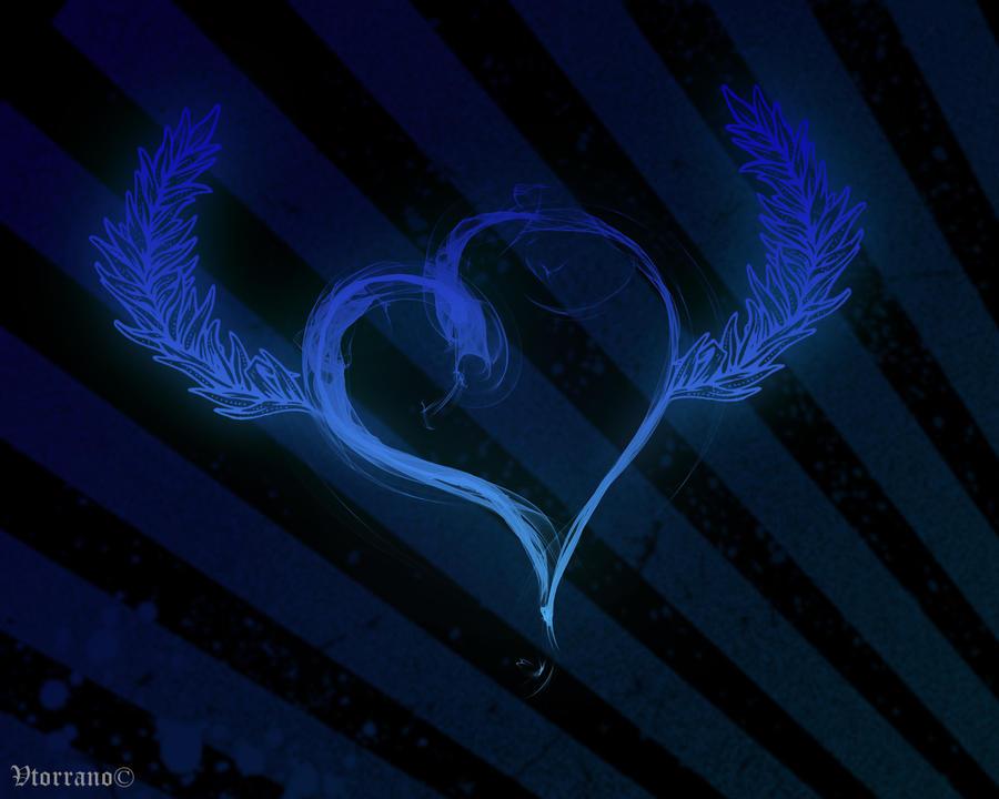 wallpaper blue ... Blue Heart Background Wallpaper