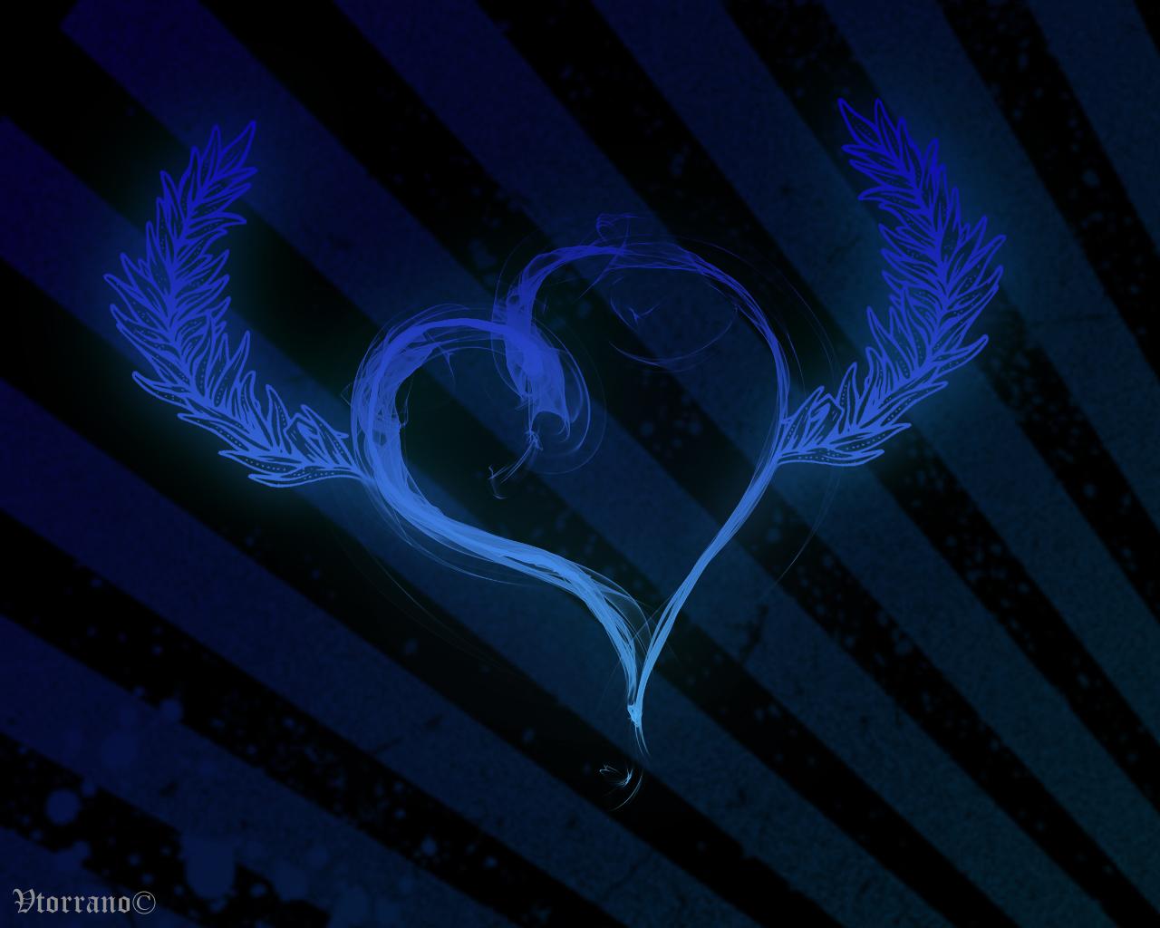 blue heart wallpaper letter a studio