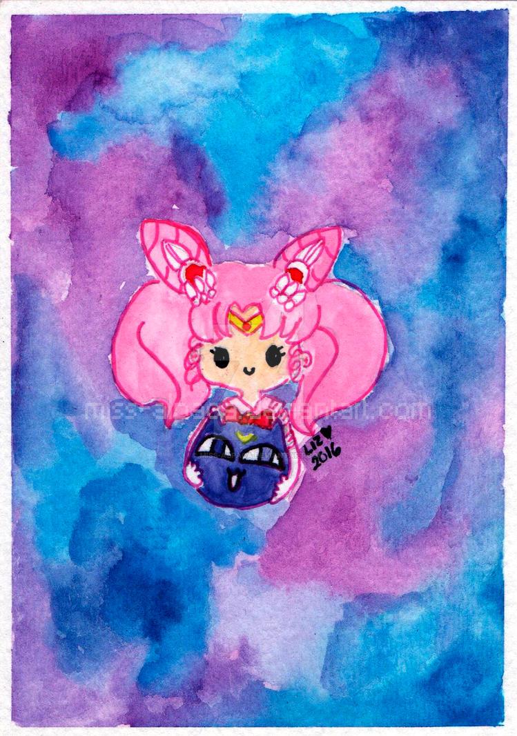Fanart - Chibiusa and LunaPi by miss-alpaca