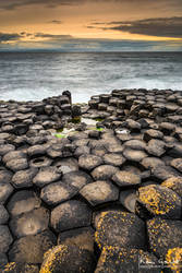 Cloudy Sunset at the Giant Causeway