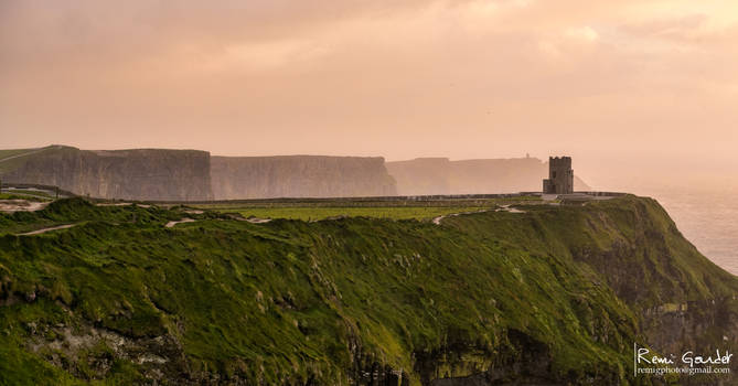 Wet sunset at Cliffs of Moher