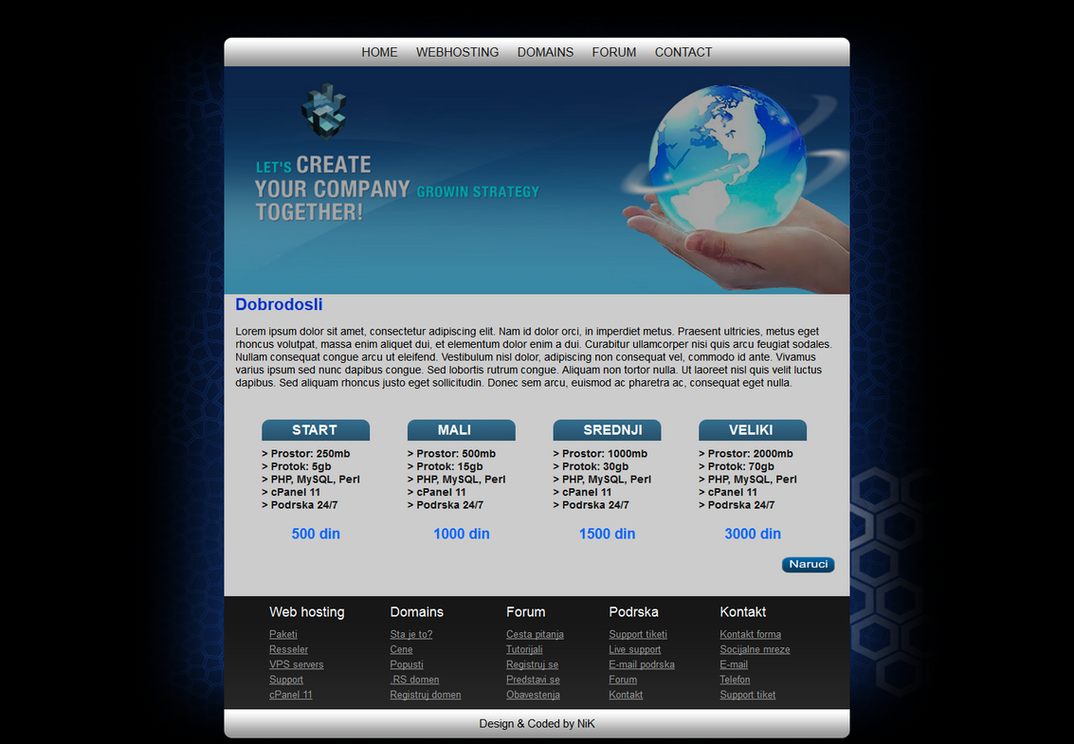 Web hosting template ALPHA by n1kol4n1k on DeviantArt