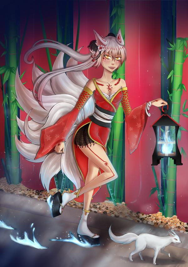 Kitsune Princess by China-Girl-Doll