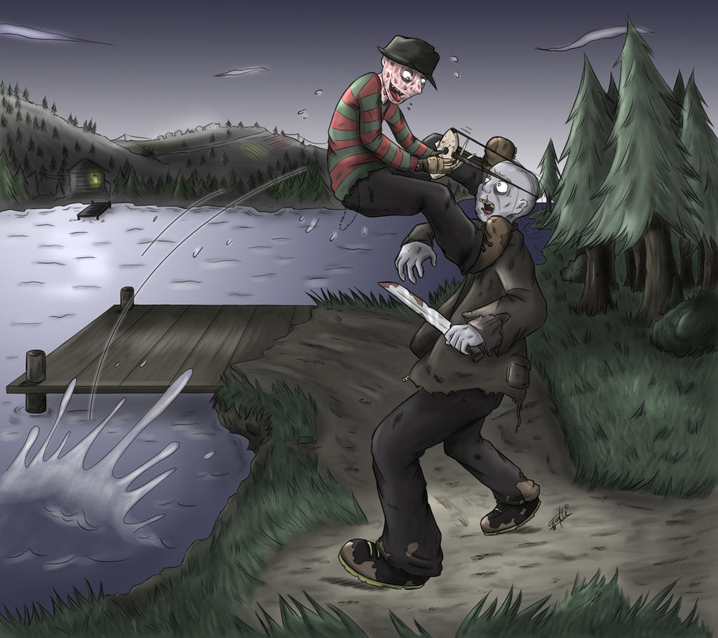 Freddy vs Jason Drawings Freddy vs Jason1024 x 910