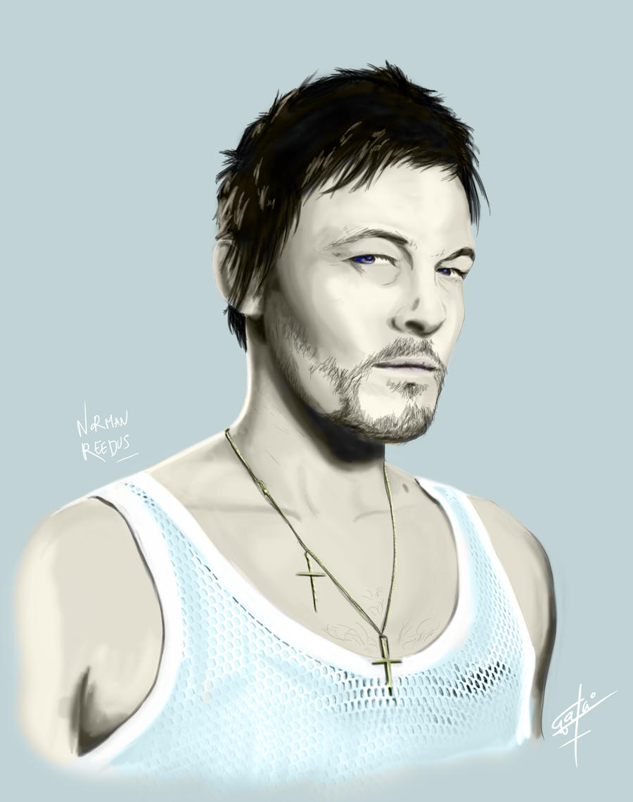 Norman Reedus Speed Painting by GakiRules
