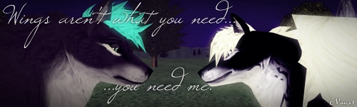 Wings aren't what you need...you need me by Wolf-fairi
