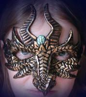 Gold Dragon Mask by Namingway