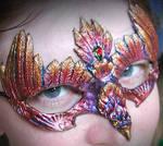 Raku Eagle Mask