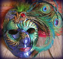 Peacock Mask by Namingway