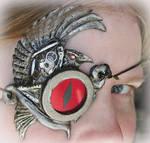 Steampunk Clockwork Raven Eye
