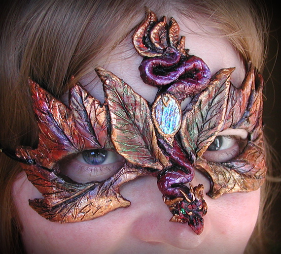 Autumn Dragon Mask by Namingway