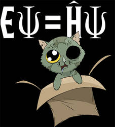 Schrodinger Zombie Cat Shirt by Namingway