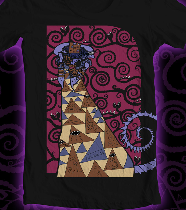 Klimt In Space Shirt by Namingway