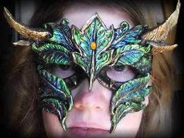 Horned Green Man Mask by Namingway