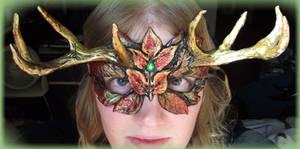 Autumn Green Man Mask by Namingway