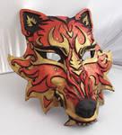 Snarling Sun Wolf- Mask