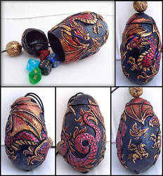 Dragon Egg Dice Holder- Any Color